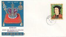 (86059) Barbuda Philart FDC Kings & Queens Edward IV -  1 October 1970