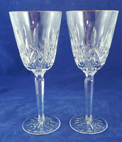 Rare WATERFORD GOLDEN LISMORE Wine Glass Signed Set of 2
