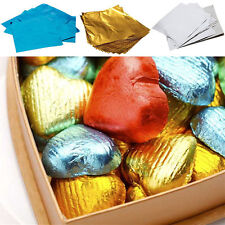 100Pcs Sweets Candy Package Foil Paper Chocolate Lolly Foil Square Wrappers Cute