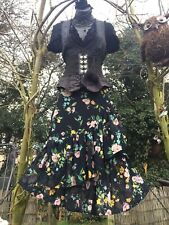 Quirky Ruffle Skirt Steampunk Lagenlook Victorian Gypsy Boho Hippy Floral 8 Larp