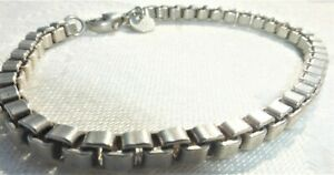 "Tiffany & Co Sterling Silver 925 Chain Bracelet 7 1/2"" Long Amazing links"