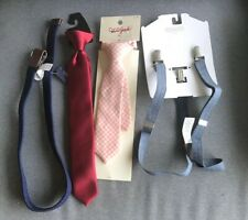 Lot Of Boys Suspenders Ties Belt