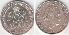 Monnaie 100 francs argent Monaco 1989