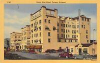 Tucson Arizona 1940s Linen Postcard Santa Rita Hotel