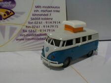 """Brekina 31569 # VW T1B Camper Baujahr 1970 Hubdach offen in """" blau-weiß """" 1:87"""