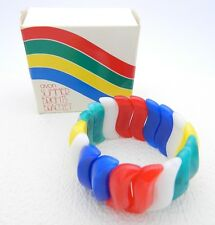 VTG AVON 1984 SUMMER BRIGHTS Rainbow Stretch Bracelet
