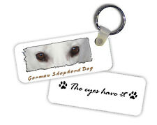 German  Shepherd Dog  white color   The  Eyes Have It   Key  Chain