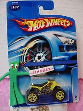 2005 Hot Wheels ATV Quad motorcycle #167 variation yellow; 2006 nc ☆ Mainline