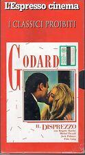 VHS=Il disprezzo (1963) VHS=L'ESPRESSO CINEMA=I CLASSICI PROIBITI=GODARD=B.BARDO