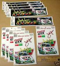 John Force NHRA New drag racing lot decal stickers Castrol Oil 1997 Ford Mustang