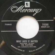 *THE PLATTERS What does it matter / My secret DOO WOP R&B CANADA 1959 ORIG 45