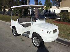 NEW 2021 WHITE E LUXE Golf Cart car 4 Passenger Seat FAST LUXURY CUSTOM W CANOPY