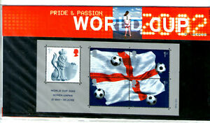 2002 GB STAMP PRESENTATION PACK No 335 'WORLD CUP'