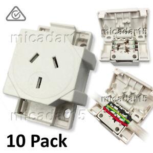 10 Pcs x QUICK CONNECT Surface Socket Plug Base Outlet - Quick Connector