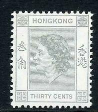 Hong Kong SG183a 30c pale grey U/M