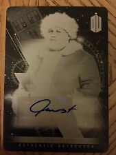 Topps Doctor Who Timeless 2016 Black Printing Plate Autograph Nick Frost 1/1