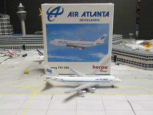 """HERPA WINGS 'Air Atlanta"""" Boeing 747-200; 1:500; Excellent Condition"""
