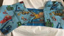Bob The Builder Toddler Sheet Set + Sham Crafts Fabric Euc 2001 Dan River