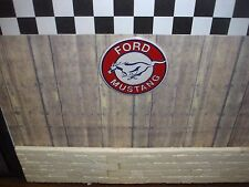 SIGN - Ford Mustang -  Metal Construction - 1/18 & 1/24 Scale 4 your diorama