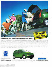 PUBLICITE ADVERTISING 065  2001  la Fiat Punto Cosy 60