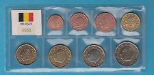 SET EURO BELGIO BELGIQUE  2005 FIOR DI CONIO FDC UNC IN BLISTER DA 8 PEZZI EURO