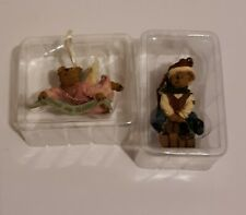 Lot of 2 Boyds Bears Ornaments Tranquility Angelpeace 2002 & Boyds Holiday 2004
