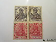 GERMANY  Zusammendrucke Michel S9 (2 x in block of 4) MINT HINGED Cat 48 Euros