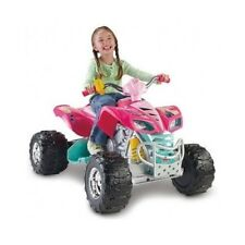 POWER WHEELS KAWASAKI KFX QUAD ATV 12V Battery Operated Ride On Toy Kid PINK CAR