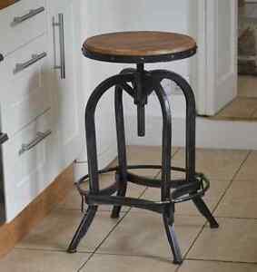 Original Bar Stool adjustable (66-85cm) artisan industrial style