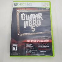 Guitar Hero 5 (Microsoft Xbox 360, 2009) Complete With Manual CIB