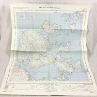 1960 Vintage Militare Mappa Di Il Orkney Isole Scozia Kirkwall Shapinsay Wyre