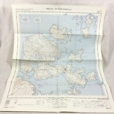 1960 Vintage Military Map of The Orkney Islands Scotland Kirkwall Shapinsay Wyre