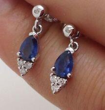 Diamond White Gold Natural Fine Gemstone Earrings