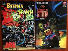 NM+ 2x Lot Batman Spawn AND Batman Judge Dredd TPBs Ready for CGC 1994/1991 RARE