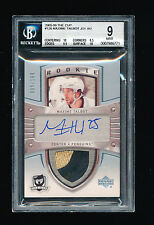 BGS 9 MAXIME TALBOT 2005-06 UPPER DECK THE CUP 2 CLR LOGO PATCH AUTO RC #/199