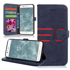 Magnetic Flip Suede Leather Wallet Stand Case Cover For Various Apple Samsung