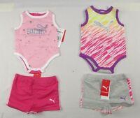 Puma Baby Girls set, bodysuit and shorts set size 3/6 months