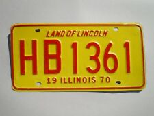 AUTHENTIC 1970 ILLINOIS LICENSE PLATE
