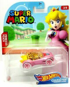 Hot Wheels Super Mario Princess Peach Character Car Brand New