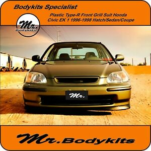 Mr. Plastic Type-R Front Grill Grille For Honda Civic 1996-1998 EK 1 Series