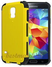 for Samsung galaxy S5  case 2 layer yellow black shockproof hybrid \//