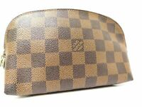 Louis Vuitton Damier Vanity Party Ivory Hand Bag Purse Cosmetic Case