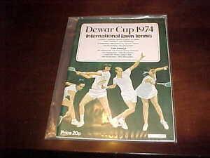 1974 The Dewar Cup Tennis Program