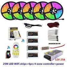 5M 10M 15M 20M 40M 5050 DC12V RGB RGBW LED strip with WiFi /RF LED controller