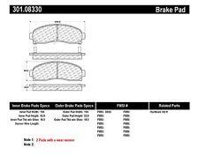 Disc Brake Pad-Premium Ceramic Pads w/Shims and Hardware Front Centric 301.08330