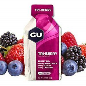 GU Energy Gel 8 Pack Tri Berry