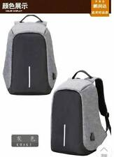 Backpack Travel Bag With Water resistant Anti Theft & USB Cable(Grey)