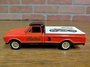 Spec Cast Rare 1967 Chevrolet Pickup Indian Motorcycles Die Cast Metal Bank NEW