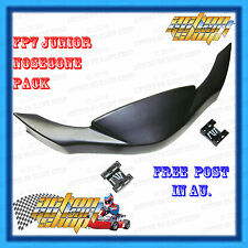 GO KART NOSECONE JUNIOR & CADET SIZE BLACK ONLY WITH FITTING KIT ARROW X2-X4