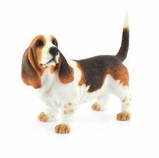 More details for bassett hound tri-colour dog ornament figurine gift boxed